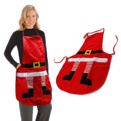 AGM Novelty Santa Cooking Baking Kitchen Christmas Decoration Unisex Chef Red Apron