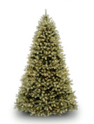 "National Tree 2.3m ""Feel-Real"" Downswept Douglas Fir Tree, Hinged, 750 Clear Lights"