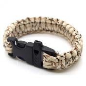 SAS Survival Paracord Bracelet 250kg With Whistle