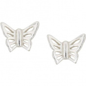 Hot Silver Sterling Silver Butterfly Stud