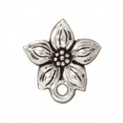 Silver Plated Pewter Stud Post Earrings Star Jasmine 13mm