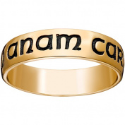 """18kt Gold over Sterling Silver """"Mo Anam Cara"""" Band, 5mm"""