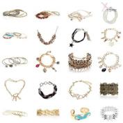 BMC Mystery Surprise 5pc Mixed Design Fashion Statement Jewellery Bracelet Kit