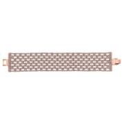 X & O Handset Austrian Crystal 14kt Rose Gold-Plated 31.5mm Box Pattern Bracelet