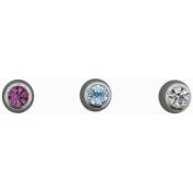 Hotsilver 16G Crystal Cylinder Labret/Monroe Trio