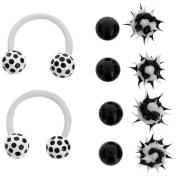 Body Magic Bioflex Circular Barbell Horseshoe with Interchangeable Beads