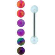 Body Magic Surgical Grade Material Aurora Barbells with 4 Beads Set