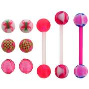 Body Magic 3pc Bioflex Barbells with Interchangeable Beads