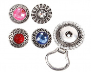 BMC Interchangeable Snap Button Centrepiece Eye Glass Holding Magnetic Brooch