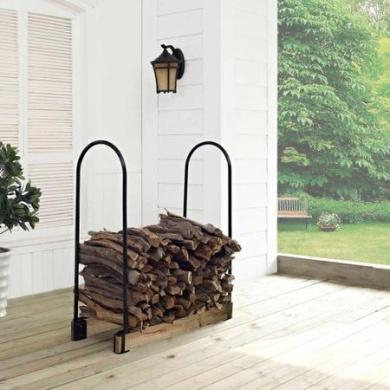 Crosley Furniture Hartman Adjustable Firewood Storage Rack