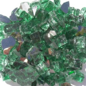 1.3cm . Reflective Arctic Flame Glass in Forest Green