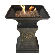 1.3cm . Reflective Arctic Flame Glass in Gold