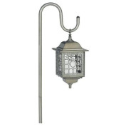 Manor House LV11040GI Flickering Low Voltage Yard Garden Light & Shepherd's Hook