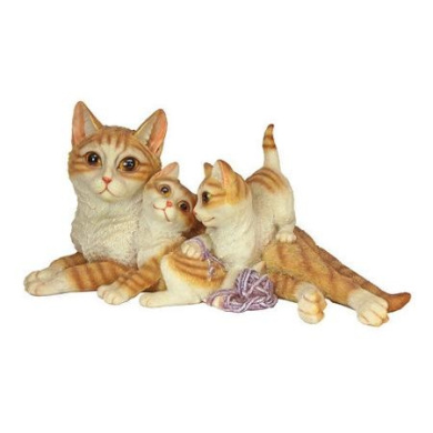 Design Toscano Kitten Crowd Cat Family Statue