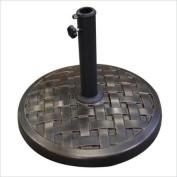 Walker Edison Round Umbrella Base in Antique Bronze