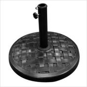 Walker Edison Round Umbrella Base in Black