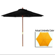 2.7m Outdoor Patio Market Umbrella - Yellow and Cherry Wood