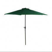 2.3m Outdoor Patio Market Umbrella with Hand Crank - Hunter Green