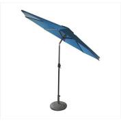 2.7m Outdoor Patio Market Umbrella with Hand Crank and Tilt - Cobalt Blue