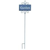 "Rectangular Garden Stake Inscribed with ""Garden"""