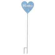 """Heart Shaped Garden Stake Inscribed with """"Home"""""""
