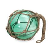 20cm Teal Glass Float Decorative Nautical Accent