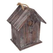 Wooden Birdhouse with Hanging Rope