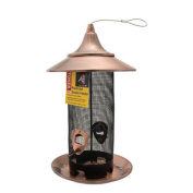 Stokes Select Provincial Screen Bird Feeder with Brushed Copper Metal Roof, 0.9kg Seed Capacity