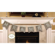Cypress Home Mr and Mrs. Burlap Bunting Banner