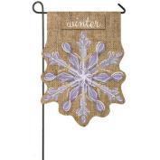 Evergreen Flag & Garden Snowflake Garden Flag