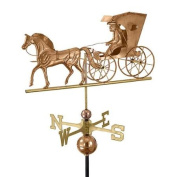 70cm Luxury Polished Copper Country Doctor Horse & Carriage Weathervane