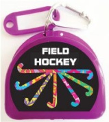 Zumoe Field Hockey Mouth Guard Case Field Hockey Mouth Guard Case Field Hockey Retainer Case or Field Hockey Dental Case called Pass Dribble Score, over 50 Designs and 9 Coloured Cases Available