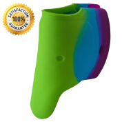 Ellie Bath Spout Cover From Happy Kid Essentials Offers a Soft, Flexible, & Easy To Use Silicone Cover ; To Prevent Bumps and Scrapes At Bath Time Use The Ellie Bath Spout Cover!