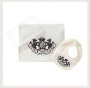 Juicy Couture Unisex Travel Nappy Set - Bib, Changing Pad, & Wipes Case