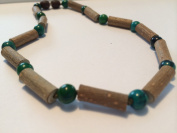 Hazelwood Necklace 12.5 Inch Green Chrysocolla for babies baby infant toddler bub for Gut issues; Eczema, Colic, Acid Reflux, GERD, heartburn, and ulcers. 100% Satisfaction Guaranteed. 33-34 cm Jasper Hazel Wood also helps with