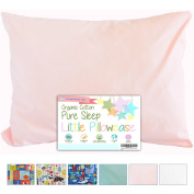 Toddler Pillowcase by Dreamtown Kids 14 X 19 - 100% Organic Cotton Woven - Naturally Hypoallergenic - GOTS certified. Envelope Style Closure, Handcrafted with Care. Made in USA!