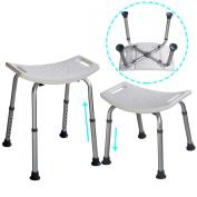 Super buy 8 Height Adjustable Shower Chair Medical Bath Bench Bathtub Stool Seat White New