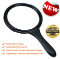 MagniPros Jumbo 13cm Magnifying Glass(3X Magnification) Large Viewing Area with Shockproof & Scratch Resistant Design- Ideal for Reading Small Prints, Low Vision, Macular Degeneration, Craft and Hobby