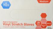 MedPride Powder-Free Stretch Vinyl Exam Gloves, Medium, Box/100
