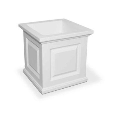 Square Planter in White