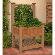 New England Arbours Bloomsbury Planter with Trellis