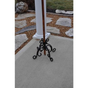 Starlite Wrought Iron Black Accessory Outdoor Torch Base