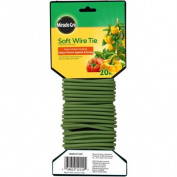 Scotts Miracle Gro 6.1m Soft Twist Ties, Green, 8-Pack