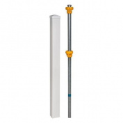 Wam Bam No-Dig Fence Vinyl Finishing Post with Cap and Steel Pipe Anchor Kit