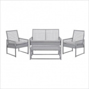 Safavieh Shawmont Aluminium Outdoor Set in Grey