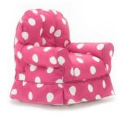 Big Joe Babs Chair, Pink with White Dot Gabardine