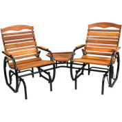 Jack Post CG-30Z 90cm - 1.3cm x 190cm - 0.6cm x 90cm - 1.9cm 2-Seat Wood Glider with Table