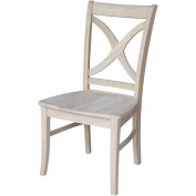International Concepts C-14P Vineyard Curved X-Back Chair, Ready To Finish