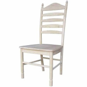 International Concepts C-271P Bedford Ladderback Chair, Ready To Finish