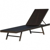 Hanover Outdoor Furniture Orleans Woven Chaise Lounge, French Roast